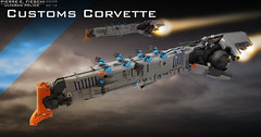 ULTARAN CUSTOMS OFFICER CORVETTE (Pierre E Fieschi) Tags: art office ship lego pierre space police micro spaceship fi concept corvette officer sci customs microspace fieschi microscale microspacetopia pierree ultaran shiptember