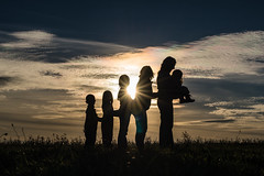 Happy friends (Shkurlei) Tags: light portrait sky people cloud baby color nature girl beautiful horizontal kids female clouds dark children outside 50mm evening togetherness adult natural eveningsun outdoor background profile silhouettes lifestyle naturallight center ukraine celebration dreamy backlit care relationships available bonding  reallife individuals d600  realpeople   simpleliving ivanofrankivsk  flickraward nikonflickraward