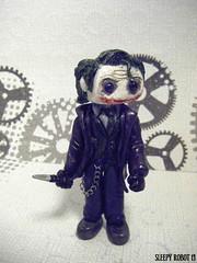 Joker Robot (Sleepy Robot 13) Tags: cute robot diy handmade robots polymerclay fimo comicbook kawaii sculpey etsy urbanvinyl marvel sculpting smallbusiness sleepyrobot13 polymerclayurbanvinylsleepyrobot13etsysilvercraftcraftscraftingsculptingsculpturefigurinearthandmadecraftshowcutekawaiirobots