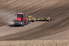 Case IH Quadtrac 600 with seedbed cultivator (Case IH Europe) Tags: tractor farm farming tracks case 600 agriculture cultivation ih caseih quadtrac