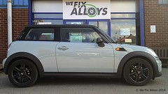 "Mini Cooper alloy wheels refurbished in Custom Matt Black by We Fix Alloys • <a style=""font-size:0.8em;"" href=""http://www.flickr.com/photos/75836697@N06/14101855912/"" target=""_blank"">View on Flickr</a>"