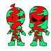 B-Pop Mason Valentine Camouflagians Super Pee Wee Camouflage Kids Red Green