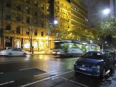 Melbourne at night (Corinneski) Tags: tram melbourne streetscene nightscene williamstreet trams
