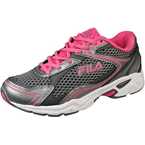 248c7016ba91 Fila Womens Trexa Lite 4 Dark Grey Silver Neon Pink Running Shoes  (runningshoesusa