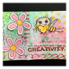Mailart for an atc trade with the UK (Stampinkie) Tags: handmade mailart agatha rubberstamping distressink stampotique magdapolakow