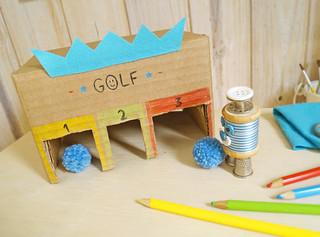Golf com caixa de papelão (PAP)