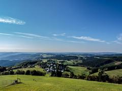 View from Schomberg tower, Wildewiese, Germany (jonasschmidt1909) Tags: forest sunny day olympus em10 wildewiese schombergturm sauerland