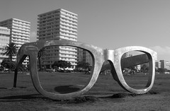 """""""Perceiving Freedom"""", a memorial to Nelson Mandela (amanda & allan) Tags: southafrica capetown nelsonmandela mandela sunglasses memorial perceivingfreedom"""