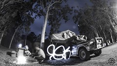 Campfire (MISHKA Vision - Light Graffer) Tags: australie australia lightpainting lightgraff longexposure expositionlongue nightphotography roadtrip