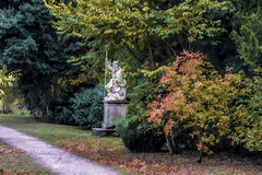 Statue Painting Croome Park (Bobinstow2010) Tags: croomepark nationaltrust garden statue nature plants stone worcestershire pershore autumn colour painting arty photoshop topaz