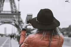 Picture in Picture - The Tour Eiffel (FOXTROT ROMEO) Tags: paris love eiffelturm toureiffel eiffel turm red frau women woman hut hat iphone france frankreich