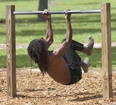 Man in Park (LarryJay99 ) Tags: westpalmbeach outside male guy dude haverhillpark florida men man guys dudes shirtless chest legs face candid unsuspecting dreads dreadlocks black blackman longhair nape back peekingpits feet barefoot barfus