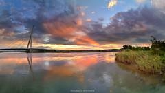 () (szintzhen) Tags:             cloud sky sunglow reflection river taipeicity taiwan photomerge