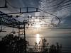 Tramonto sulla ferrovia (m.clicech 19600302) Tags: olympus epl7 leica dg summilux 15f17 ferrovia incrocio rotaie catenaria tramonto mare nubi cielo blu cavi elettricità bivio aurisina trieste carso adriatico