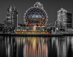 Science World by Gregory Johnson (photoclubvancouver) Tags: falsecreek vancouver photoclubvancouver olympicvillage pcvphotographers 2012gregoryjohnsonallrightsreserved canada pcvexhibitions gregoryjohnsonpcv 2016zackgallerypcv fother 2012gregoryjohnsonallrightsreserved
