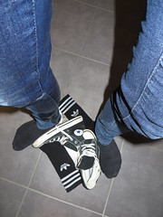 Wet Jeans (adifan) Tags: wet jeans socks adidas converse wetlook