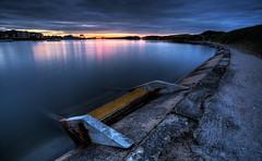 Boating Lake at sunset (chongsparks) Tags: chongsparks craigsparks fleetwood beach sunset lake rossallpoint clouds seashore steps longexposure