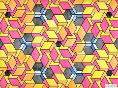 20160920b (regolo54) Tags: geometry symmetry impossible hexagon cube mathart regolo54 escher oscarreutersvrd handmade aquarelle watercolor