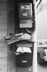 Mail Disorder (35mm) (jcbkk1956) Tags: bangkok thailand thonglo street mail postbox mailbox mono blackwhite film 35mm yashica yashinon ministerd analog ilfordpan100 rangefinder streetfurniture worldtrekker disorder meter