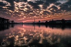 Another Osijek morning (ristic.vedran42) Tags: osijek croatia drava sunrise d3200 nikon nikond3200 1855 clouds morning skyline