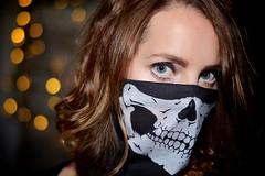 Evil, Part 1 (bluejetjane) Tags: selfie portrait halloween skull courtney bokeh