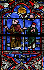 The Publican and the Pharisee (Lawrence OP) Tags: parable washingtondc national cathedral stainedglass pharisee publican prayer mercy humility