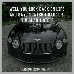 "Will you look back on life and say, ""I wish I had"" or ""I'm glad I did""?  @timefreedomfather #TFF (donnycarpenter1) Tags: tff motivate workfromhome motivation entrepreneur entrepreneurs business inspire leadership happy successful amazing entrepreneurship healthy networkmarketing goals success inspiration motivational motivated grind millionaire boss strong work luxury dedication inspirational positive justdoit"