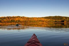 ''La super lune!'' (pascaleforest) Tags: kayak passion nikon nature paysage landscape lune luna automne autumn qubec eau water sky ciel
