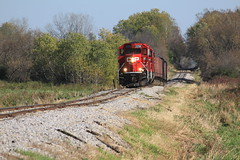 Roller coaster (MILW157) Tags: waterloo spur cp canadian pacific g64 gp20eco railroad train track jointed rail ballast michaels pit quarry