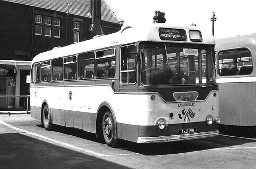 Great Yarmouth 19 - AEX 19B Lowestoft Bus Station August 1974