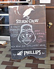 I Quit drinking for Good (knightbefore_99) Tags: vancouver board art drinking bar local commercialdrive cool darth vader eastvan evil good tavern beer medieval
