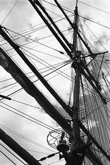rigged (Weaver_23ph) Tags: abstract 35mm analog film canon eos mast tallships sailing ship rigging sky clouds artifact