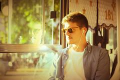 REFLECT (julian.lopez.perdiz) Tags: bright sun retrato portrait street bus city reflection mirrow