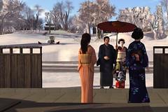 Ultra warm reception! (BlueLotusOkiya) Tags: bluelotusokiya secondlife geisha misedashi hinako second life blue lotus okiya pontocho