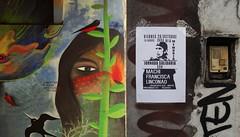 """""""...ideas de la multitud por sirenas fueron raptadas..."""" (Felipe Smides) Tags: libertad machi francisca linconao jornada solidaria solidaridad mural felipesmides smides resistencia mapuche sur"""