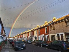 Rainbow Road (Jainbow) Tags: rainbow colours multicoloured street road houses terraced portsmouth southsea jainbow