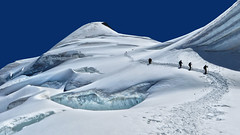 Allalinhorn (4027m) - Wallis - Switzerland [Explored #39] (Felina Photography - www.mountainphotography.eu) Tags: alpinism alpinismo mountaineering alpinisme mountaineers alpinists allalinhorn saasfee gletscher glacier ghiacciaio seracs crevasse climbing peak 4000m schweiz svizzera suisse zwitserland svizra felinafoto felinaphotography felina photographer photography fotografia fotografie fotografo fotografa tourism turismo toerisme turismus tourismus hiking hike tour trip adventure hotspot excursion escursione excursions escursioni excursie tocht uitje ausflug gita poster wallpaper switzerland alps alpi alpen mountain montagna montagne landscape landschap paysage paesaggio nature natura natuur 旅遊 瑞士 遠足 攝影 snow ice explore summer