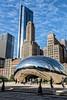 """Cloud Gate ou """"The Bean"""" (Lucille-bs) Tags: amérique etatsunis usa illinois chicago thebean cloudgate building cielbleu city sculpture milleniumpark"""