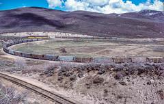 Doubling first half of train out of Phoston, April 7, 1986 (blair.kooistra) Tags: unionpacific gp30 parkcity webercanyon ogden echo utah utahrailroads branchlinerailroads