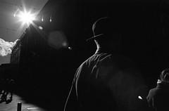 Scene with sunshine (Helsinki Drifter) Tags: blackandwhite contrast rolleifilm aviphot retro400s pushprocess light lighting silouette humanelement streetphotography lowkey underexposure helsinki europe