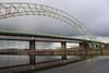 Runcorn Bridge reflected in Autumn (big_jeff_leo) Tags: runcorn runcornbridge england cheshire river mersey estuary road steel iron archway