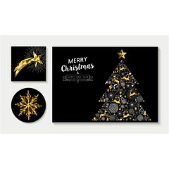 free vector Merry christmas and happy new year 2017 cover (cgvector) Tags: abstract art background card celebration christmas composition contemporary decoration design elegant element event geometric geometry graphic greeting holiday illustration invitation invite low luxury merry metallic new origami ornament pine poly red season shape style symbol text tree trendy triangle typography vector xmas year