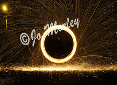 Wire Wool (Jo_Morley) Tags: wire wool photography light long exposure shutter speed mask bright circle watermark outside photoshop sony contrast night wet rain outdoor experiment experiments kersley untiedkingdom uk england