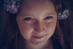 Little beauty (cristele.belzacq) Tags: portrait portraiture girl flowers outside natural light beauty
