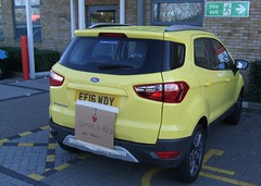 2016 Ford EcoSport Titanium (Stuart Axe) Tags: ford ecosport fordecosport titanium fordecosporttitanium car sign 2016 yellow simplyred bumpersticker brightyellow