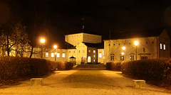 The library (Ib Aarmo) Tags: fredrikstad bibliotek library building architecture by night street lamp light