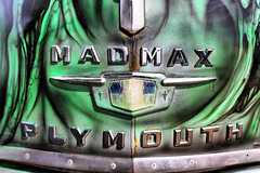 Madmax (taddzilla) Tags: car hood logo plymouth carshow madmax grill chrome hdr coopercity florida 2016 allrightsreserved