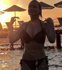 Droplets (edna.bucket) Tags: sunset bikini model