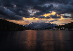 Fuoco (TeeJay_S) Tags: sunset italy dolomites dolomiti italia clouds lagodimisurina alps alpes mountains nature outdoors water lake sky adventure amazing beautiful canon canon6d discover earth explore outside landscape leefilter leefilters ngc europe europa