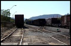 Boxcars (~ Lone Wadi Archives ~) Tags: transport miamiarizona americansouthwest train traintracks railroad boxcars gilacounty miningtown railroadtracks rails